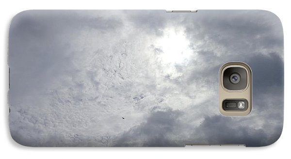 Galaxy Case featuring the photograph Duck In Beautiful Sky by Christina Verdgeline