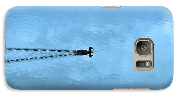 Galaxy Case featuring the photograph Duck In The Clouds by Karen Molenaar Terrell