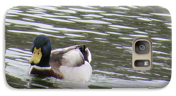 Galaxy Case featuring the photograph Duck Out For A Swim by Aaron Martens