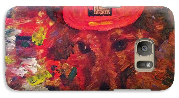 Galaxy Case featuring the painting Alameda Radar  by Linda Weinstock