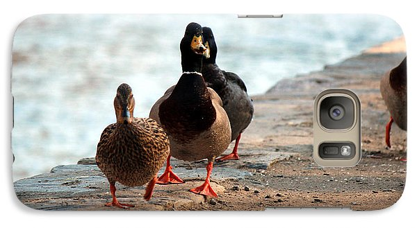 Galaxy Case featuring the photograph Duck Walk by David Jackson