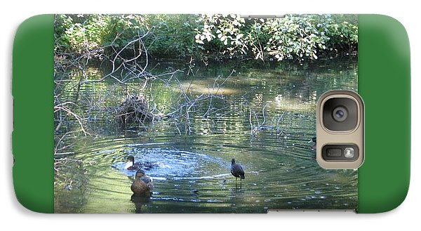 Galaxy Case featuring the photograph Ducks A Dabbling by Linda Prewer