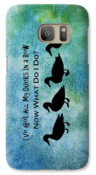 Ducks In A Row Galaxy Case by Jenny Armitage