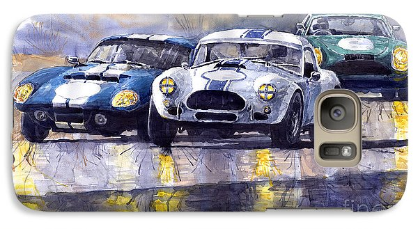 Duel Ac Cobra And Shelby Daytona Coupe 1965 Galaxy S7 Case by Yuriy  Shevchuk
