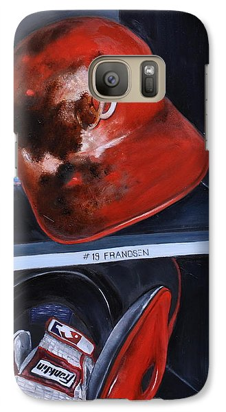 Galaxy Case featuring the painting Dugout by Lindsay Frost