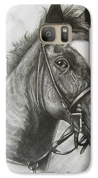 Galaxy Case featuring the drawing Dullahan by Patrice Torrillo