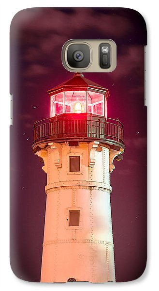 Galaxy Case featuring the photograph Duluth North Breakwater Lighthouse by Mark David Zahn