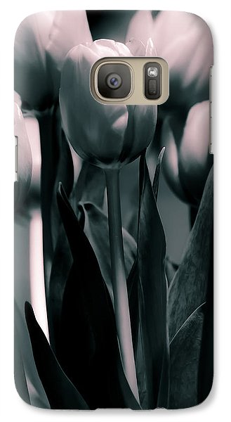 Galaxy Case featuring the photograph Duo-toned Tulip by Craig Perry-Ollila