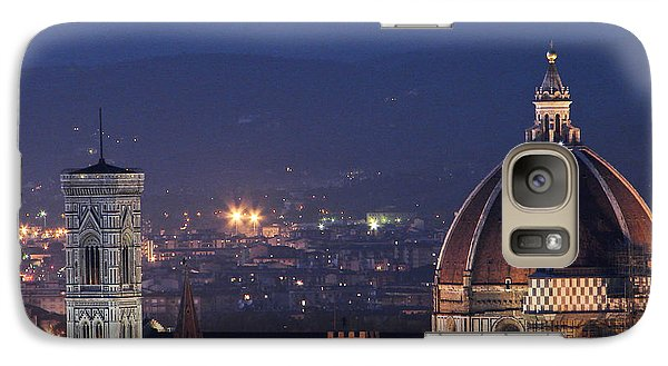 Galaxy Case featuring the photograph Duomo At Night Florence Italy by Sally Ross