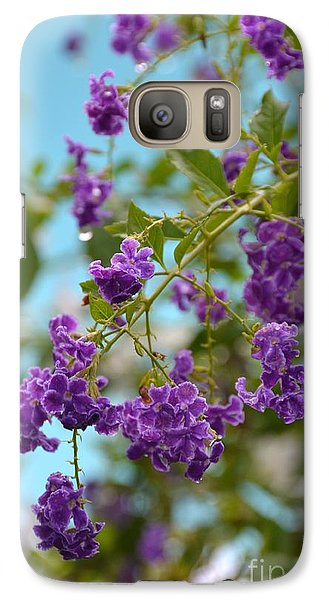 Galaxy Case featuring the photograph Duranta- Fresh Morning by Darla Wood