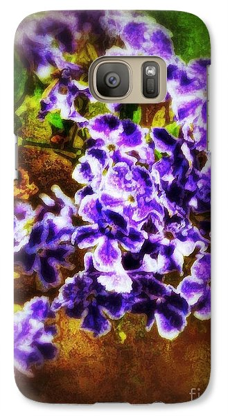 Galaxy Case featuring the photograph Durantas- Vintage Blooms by Darla Wood