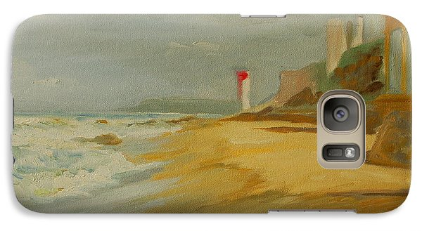 Galaxy Case featuring the painting Durban Light House by Thomas Bertram POOLE
