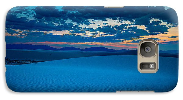 Galaxy Case featuring the photograph Dusk At White Sands by Allen Biedrzycki