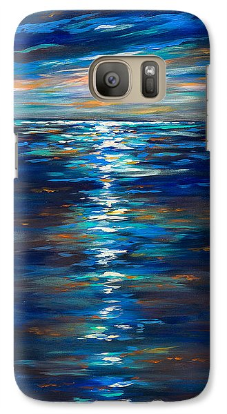 Galaxy Case featuring the painting Dusk On The Ocean by Linda Olsen