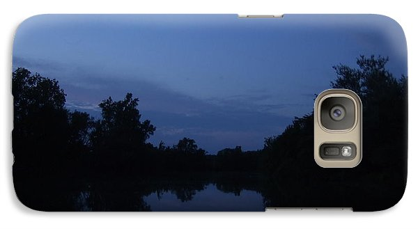 Galaxy Case featuring the photograph Dusk On The River by Deborah DeLaBarre
