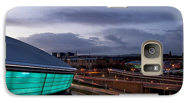 Galaxy Case featuring the photograph Dusk Over Glasgow by Stephen Taylor