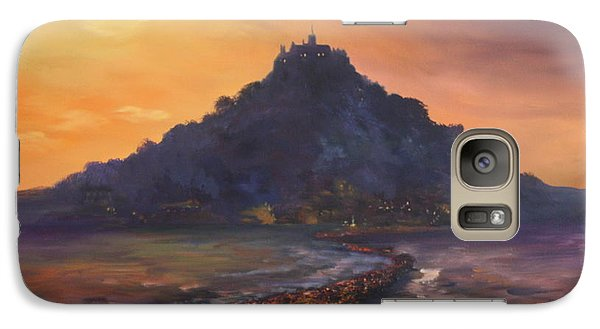 Galaxy Case featuring the painting Dusk Over St Michaels Mount Cornwall by Jean Walker