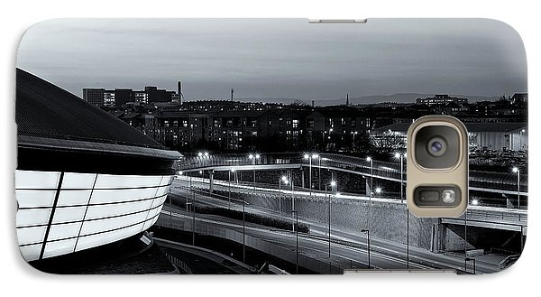 Galaxy Case featuring the photograph Dusk Over The Expressway by Stephen Taylor
