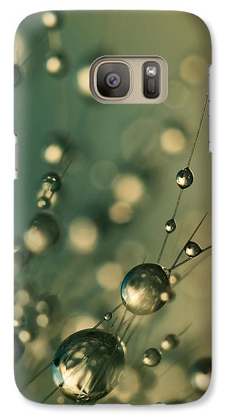 Galaxy Case featuring the photograph Dusky Blue Cactus Drops by Sharon Johnstone