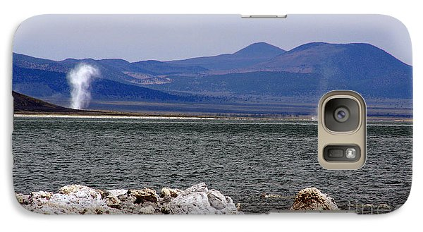 Galaxy Case featuring the photograph Dust Devils Of Mono Lake by Thomas Bomstad