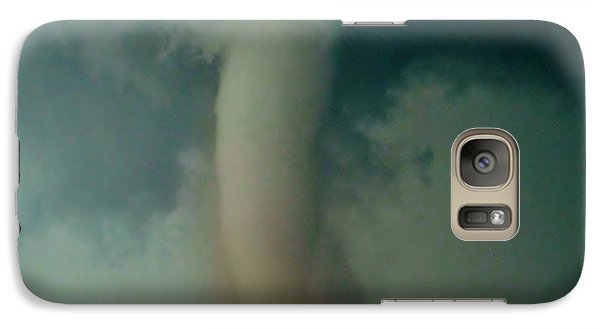 Galaxy Case featuring the photograph Dust Eating Tornado by Ed Sweeney