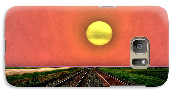 Galaxy Case featuring the photograph Dustbowl Sunset by Larry Trupp