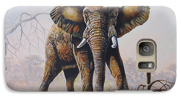 Galaxy Case featuring the painting Dusty Jumbo by Anthony Mwangi