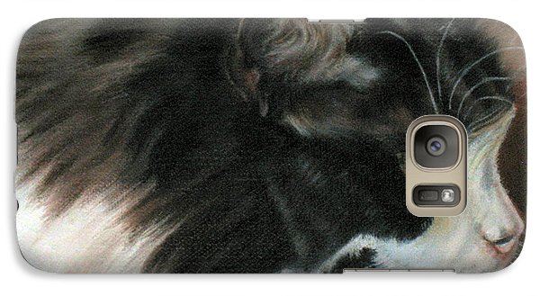 Galaxy Case featuring the painting Dusty Our Handsome Norwegian Forest Kitty by LaVonne Hand