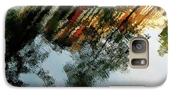 Galaxy Case featuring the photograph Dutch Canal Reflection by KG Thienemann