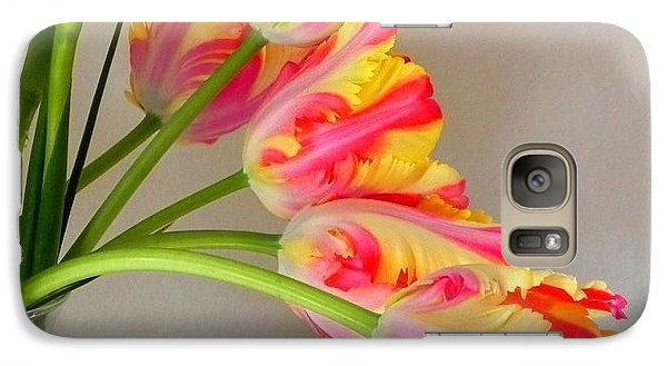 Galaxy Case featuring the photograph Dutch Tulips by Peggy Stokes