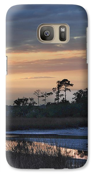 Galaxy Case featuring the photograph Dutton Island At Dusk by Phyllis Peterson