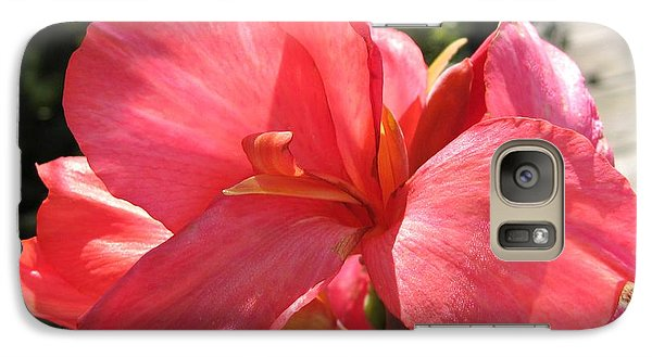 Galaxy Case featuring the photograph Dwarf Canna Lily Named Shining Pink by J McCombie