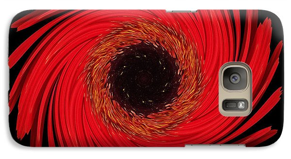 Galaxy Case featuring the photograph Dying Amaryllis Flower Mandala by David J Bookbinder