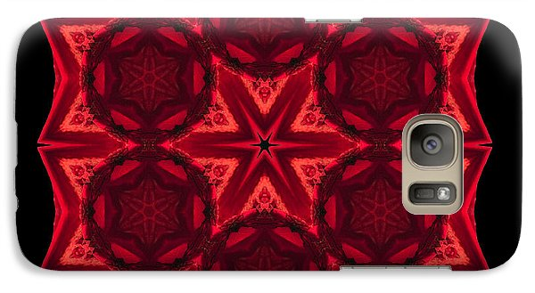 Galaxy Case featuring the photograph Dying Amaryllis IIi Flower Mandala by David J Bookbinder
