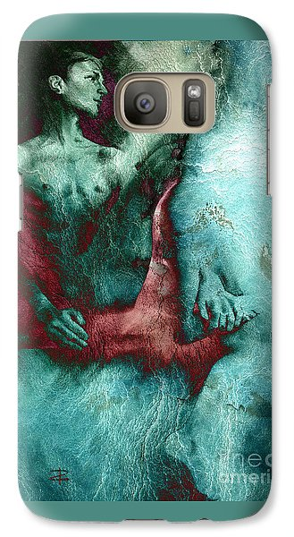 Galaxy Case featuring the drawing Dylan With Mood Texture by Paul Davenport