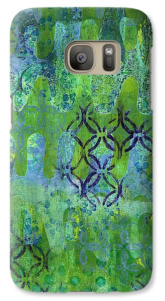 Galaxy Case featuring the mixed media Dynamic 1 by Lisa Noneman