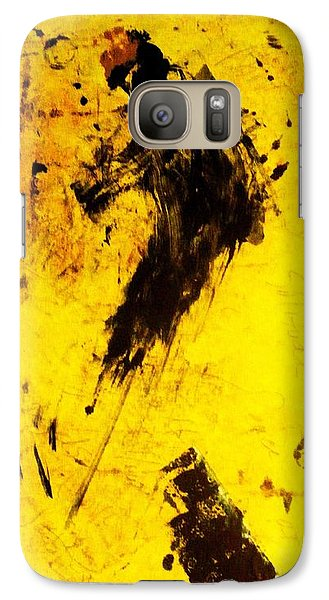 Galaxy Case featuring the painting Dynamo  by Lesley Fletcher