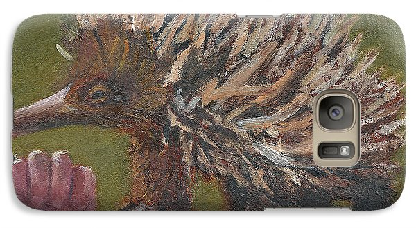 Galaxy Case featuring the painting E Is For Echidna by Jessmyne Stephenson