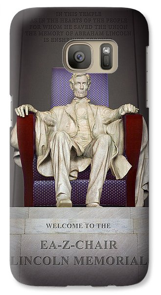Ea-z-chair Lincoln Memorial 2 Galaxy S7 Case by Mike McGlothlen