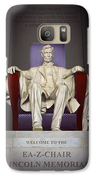 Ea-z-chair Lincoln Memorial 2 Galaxy Case by Mike McGlothlen