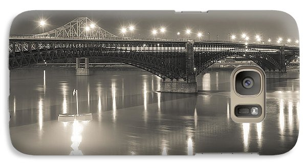 Galaxy Case featuring the photograph Eads Bridge And Train by Scott Rackers