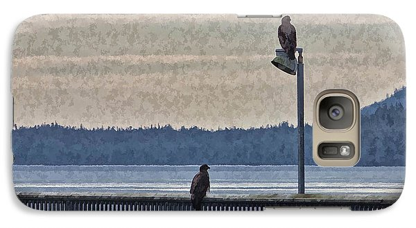 Galaxy Case featuring the photograph Eagels by Timothy Latta