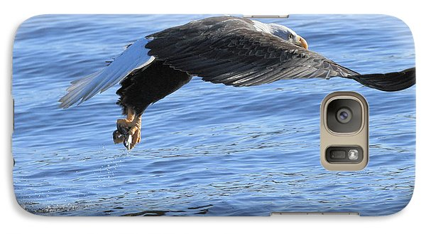 Galaxy Case featuring the photograph Eagle Fishing by Coby Cooper