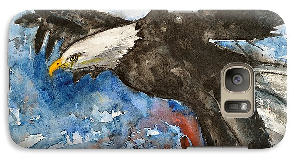 Galaxy Case featuring the painting Eagle In Flight by Ismeta Gruenwald