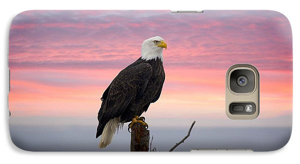 Galaxy Case featuring the photograph Eagle In The Mist by Sylvia Hart