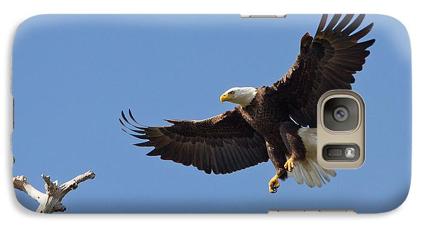 Galaxy Case featuring the photograph Eagle Landing 2 by Phil Stone
