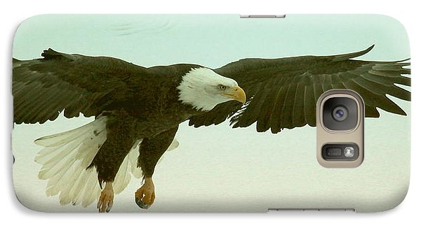 Galaxy Case featuring the photograph Eagle Landing by Myrna Bradshaw