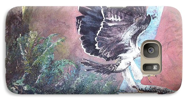 Galaxy Case featuring the painting Eagle Light by Mary Ellen Anderson