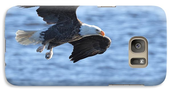 Galaxy Case featuring the photograph Eagle On The Mississippi by Coby Cooper