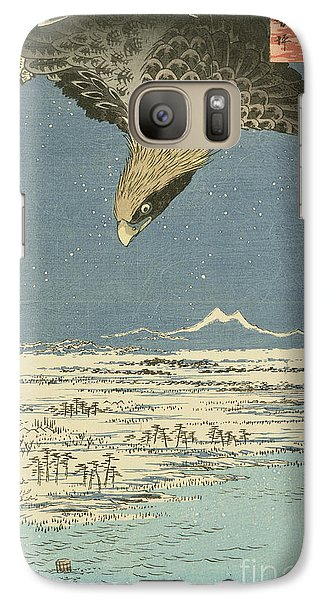 Eagle Over One Hundred Thousand Acre Plain At Susaki Galaxy S7 Case by Hiroshige